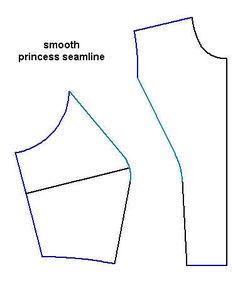 Princess seam smoothed