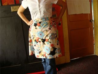 Apron from a skirt