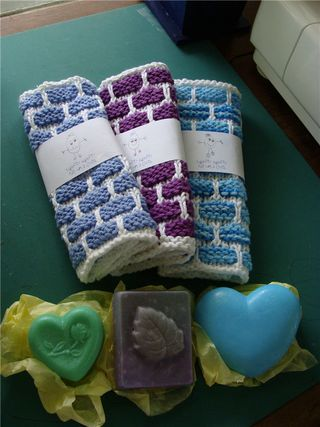 Humpty dumpty dishcloths with soaps