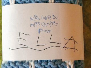 With love to miss christy from ella