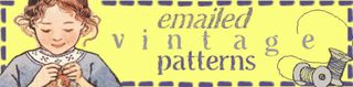 Vintage emailed patterns