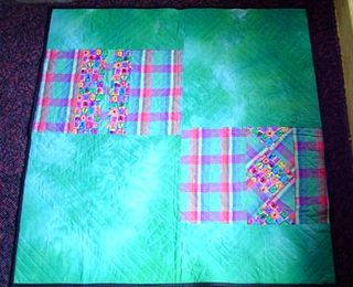Holly's quilt back