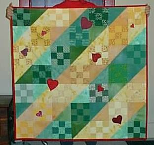 HST with hearts quilt