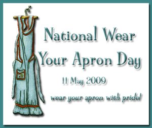 National wear your apron day button
