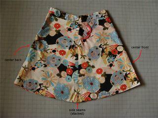 Uncut skirt