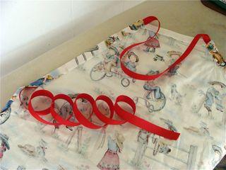 Ribbon threaded thru casing