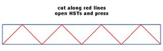 Cut HST from strips