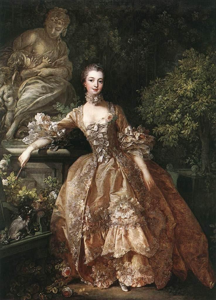 Portrait of Marquise de Pompadour franco