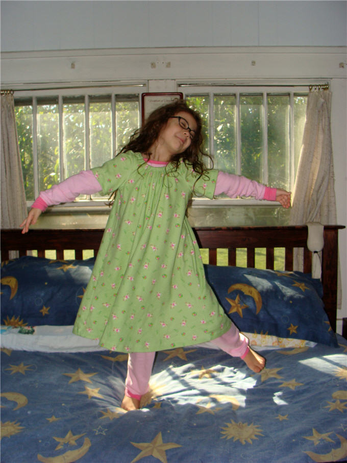 Old times nightgown dance