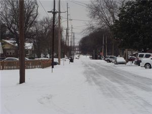 Snowy icy howard ave