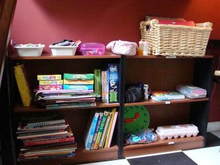 Shelves in the classroom