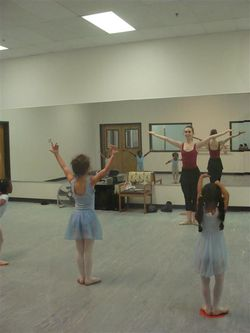 First ballet class port de bras