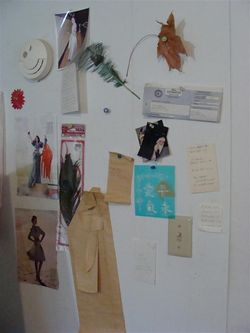 Art room wall inside door
