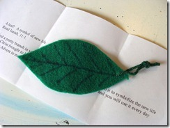jesse tree leaf and note