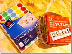 polka dot advent calendar supplies