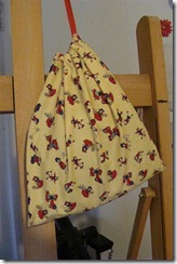 drawstring bag with one string