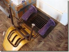 improvised boot drying rack