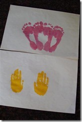 angel hand and foot prints