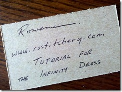 business card writing on back