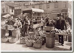 Indianapolis Market. Aug., 1908. Wit., E. N. Clopper. Location: Indianapolis, Indiana.