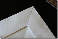 fold each side to make miter