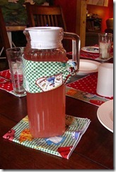 pitcher with napkin wrap