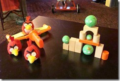 homemade angry birds game