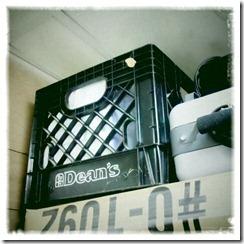 black crate.