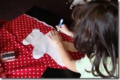 tracing pattern onto fabric
