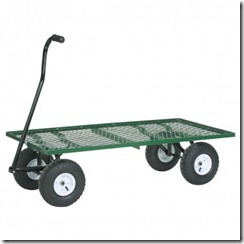 steel mesh deck wagon