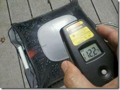 solar water heater temp