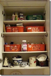 cleaned up medicine cabinet