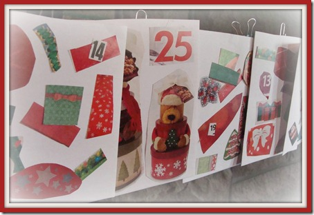 advent calendar 25 pocket border