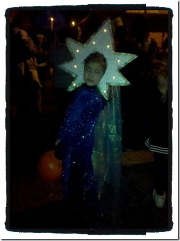 shooting star at night.