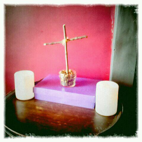 Our lenten home altar