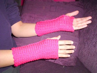 Knifty Knitter Wrist Warmers